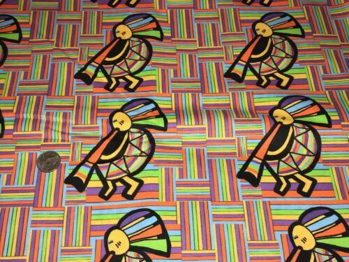 Fabric Native American Kokopelli Hand Designed on Kona Cotton Canvas 1//4 Yard