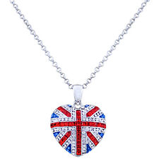 Butler and Wilson Union Jack Heart Jubilee Olympics Pendant Necklace NEW