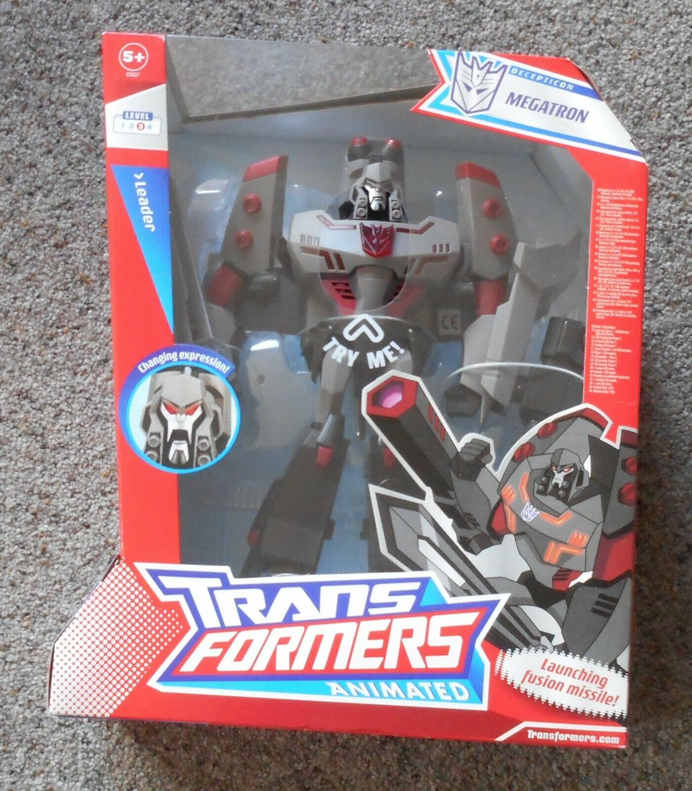 MEGATRON   Leader Class Hasbro Transformers Animated   Mint Meerled