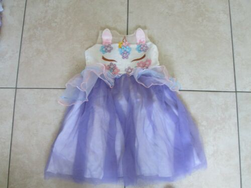 girls dress age 5-6-7 Unicorn Disney Princess sundress EASTER Party wedding BALL