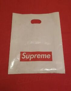 """Lot Of 4 Supreme NYC Authentic PVC Tote Shopping Gift Presentation Bags 16""""* 23"""""""