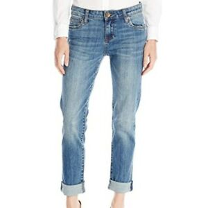Kut-from-the-Kloth-Catherine-Boyfriend-Jeans-Medium-Wash-Factory-Faded-Size-US-6