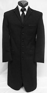 Details About 40 Xl Mens Black Long Tuxedo Jacket Duster Frock Coat Victorian Steampunk Formal