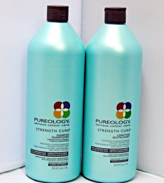 Pureology Strength Cure Shampoo & Conditioner 33.8 Liter Set Duo PACK Antifade