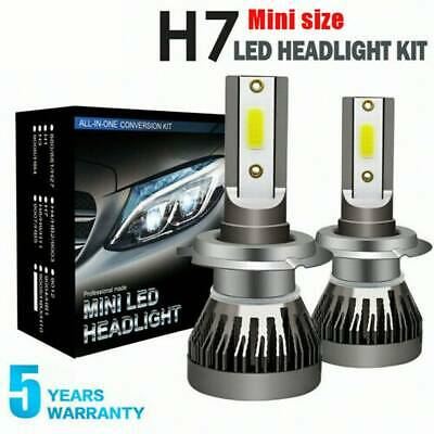 1960W 294000LM Car CREE LED Headlight  H7 6000K White Low Beam Bulbs Power Pair