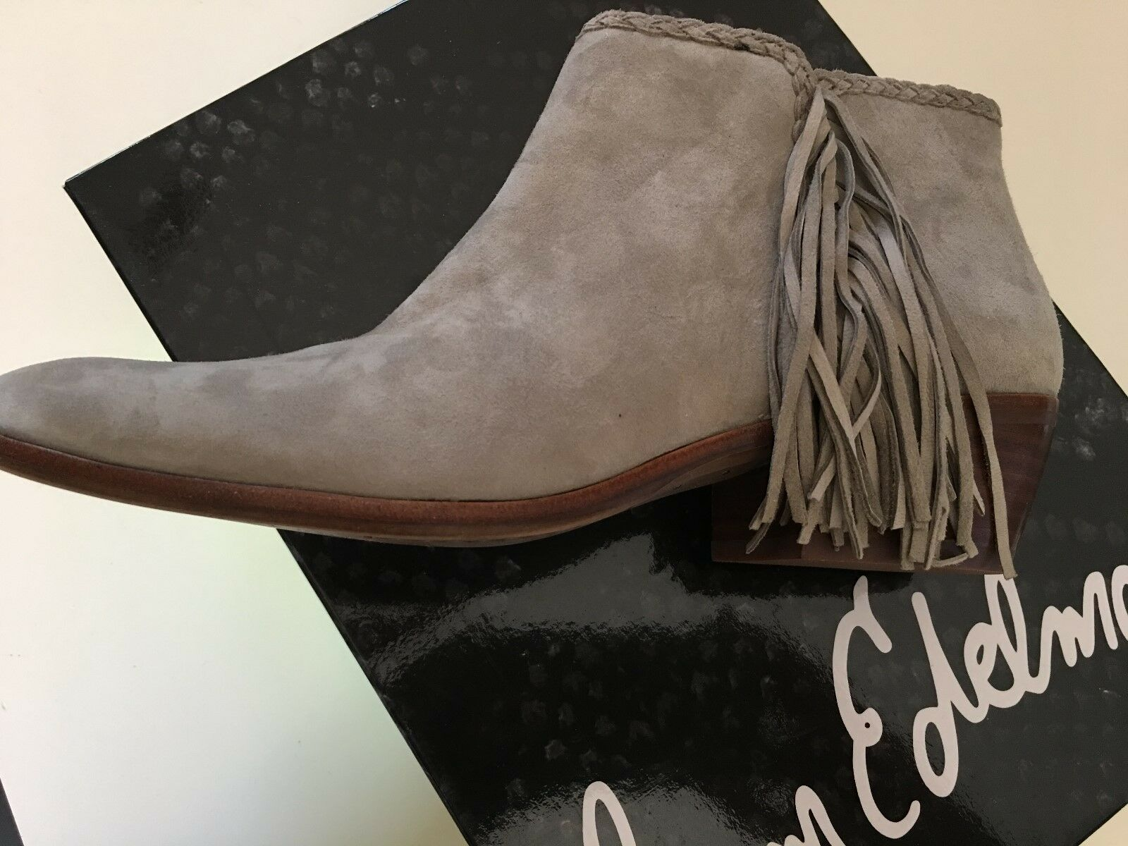 New Sam Edelman Woman Ankle Boots Size 7 w side Fringe