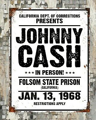 Johnny Cash Tin Sign Metal Sign Metal Signs