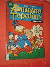 ALBO D'ORO ALMANACCO DI TOPOLINO n° 5 -1963 -completo con 2 fogli figurine-usato