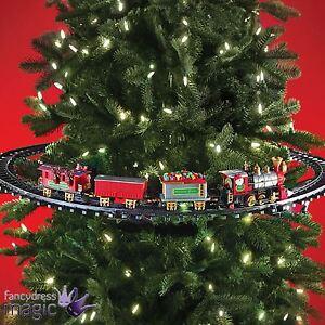 image is loading mounted christmas tree train festive light up sound