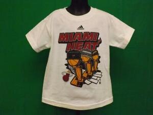 New-Minor Flaw Miami Heat KIDS Sizes S-M-L 2006 Champions Adidas Shirt