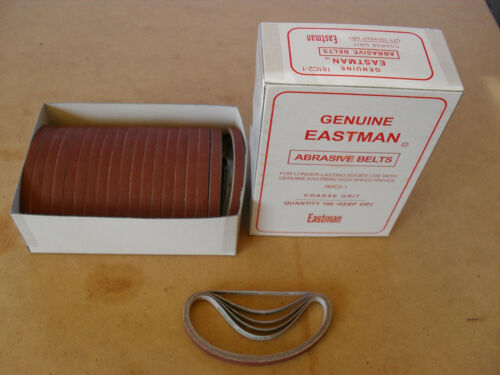 1 X BOX RED COURSE SHARPENING BANDS FOR STRAIGHT KNIFE CUTTING MACHINES