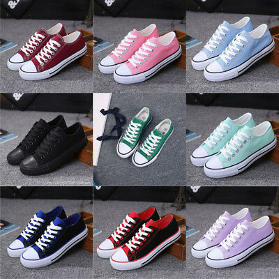 ladies girl flat plimsoles casual lace up CANVARS SHOES pumps trainers WOMEN