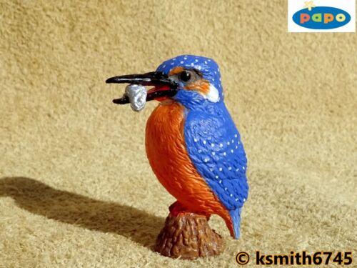 NUOVO * Papo Kingfisher Solid plastica giocattolo Wild River Bird Animale