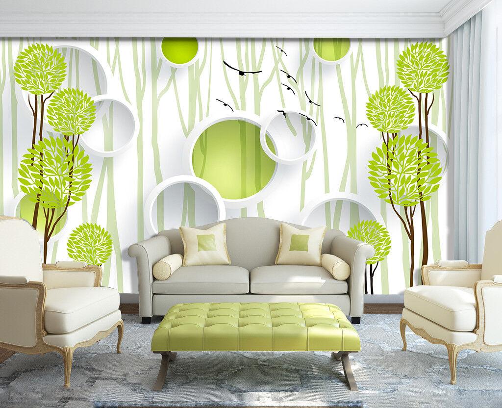 3D Kreis Baum Muster 9083 Tapete Wandgemälde Tapeten Bild Familie DE Jenny
