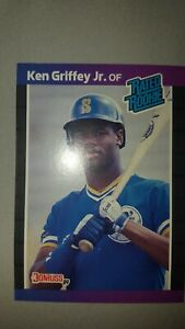 1989-Ken-Griffey-Jr-Donruss-33-2-Error-039-s-on-RARE-ROOKIE-Gap-amp-missing-INC