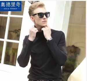 TURTLE-NECK-LONG-SLEEVE-FOR-MEN-BLACK-MEDIUM