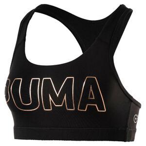 Puma-Mujer-Powershape-para-Siempre-Logo-Bustier-Sujetador-Deportivo-Bra-Negro