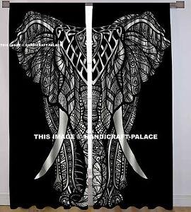 Indian-Cotton-Elephant-Mandala-Curtain-Window-Door-Cover-Hanging-Drape-Tapestry