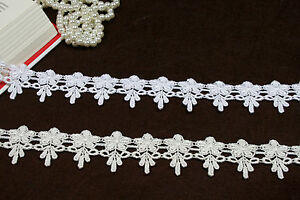 "1.75/"" White Tassel Venice Lace Trim Fringe Guipure DIY sewing notions By Yard"