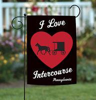 Toland - I Love Intercourse - Pennsylvania Amish Regional Garden Flag
