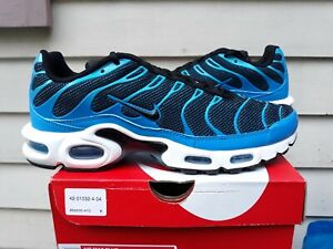 Nike Air Max Plus Blue Black White 852630 410 Size 9 5