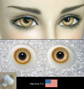 14mm bjd glass doll eyes two shades colors dollfie iplehouse luts #CH-17 ship US