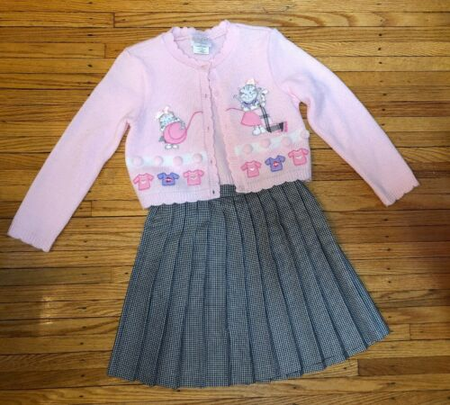 Raretoo! By Rare Editions Two Piece Cardigan And Skirt Girls Size 6x