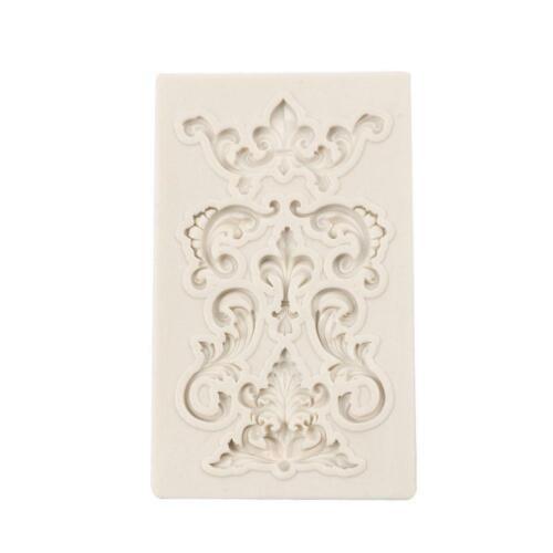 Relief Baroque Silicone Fondant Mould Vintage-Cake Mold Decor Paste Border H0G0