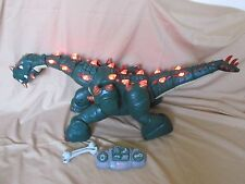 Fisher-Price Imaginex SPIKE THE ULTRA GREEN DINOSAUR with Remote, Battery & Bone