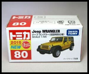 TOMICA-80-JEEP-WRANGLER-1-65-TOMY-2015-August-NEW-MODEL-DIECAST-CAR-80-YELLOW