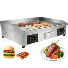 4400w 30stainless Steel Electric Countertop Griddle Flat Top Restaurant Bbq