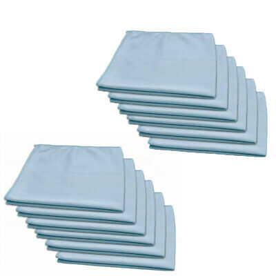 12 pack new blue microfiber towels glass window mirror lens cleaning car wash