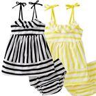 2Pcs Baby Girls Clothes T-shirt Dress+Shorts Pasnts Set Kids Summer Dress Outfit