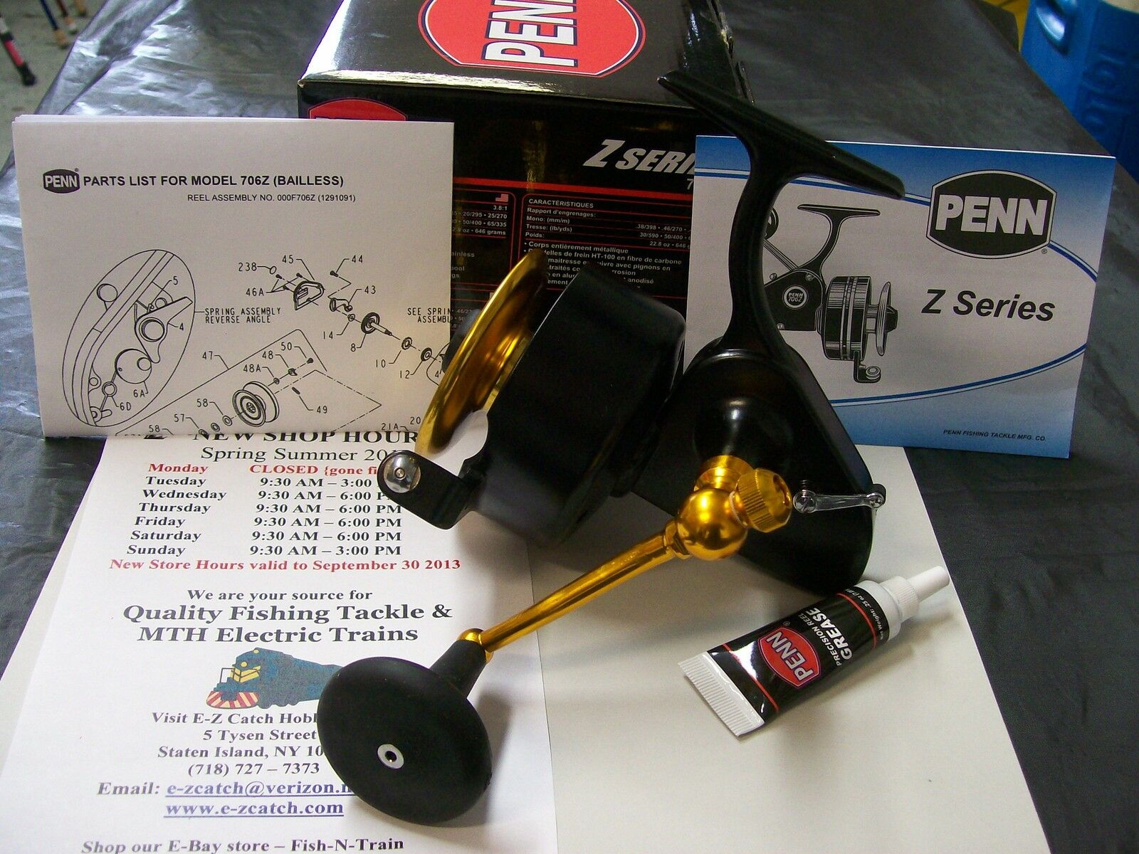NEW Release Penn Z Series 706Z  Spinfisher All  Metal Bail Less  Reel U.S.A. Made  unique design