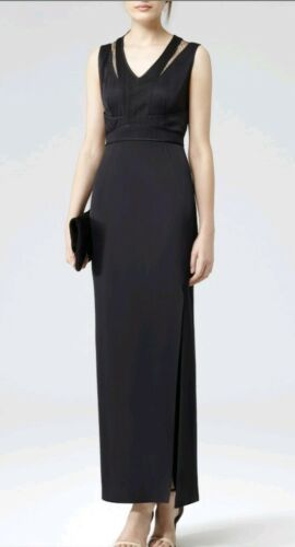 Gown 14 Size Detail Ball navy used Maxi Reiss Snares Lace Designer Dress Once tq6fn