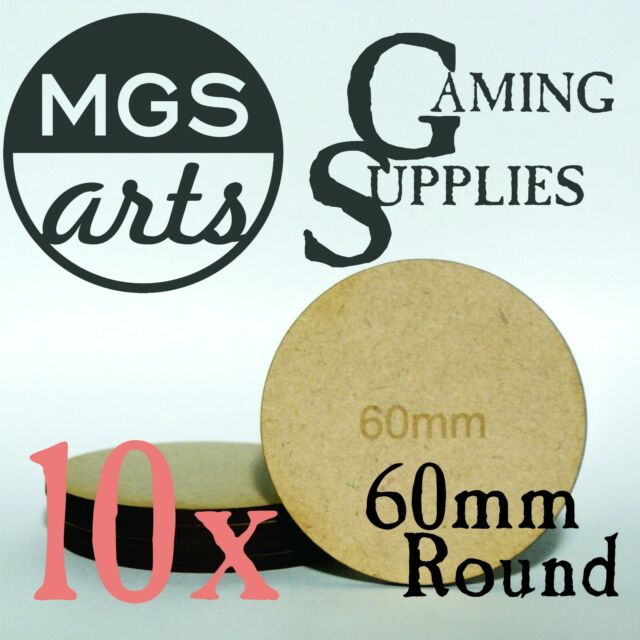 50x 25mm Round Laser Cut MDF Miniature Warhammer Bases FREE SHIPPING!!!