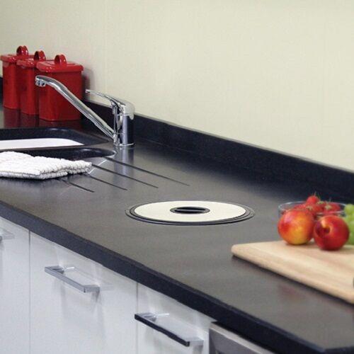 Cocina encimera de Residuos Bin Acero Inoxidable-Bolsas de agujero montaje propio en el agujero de de Ø276mm bacef3