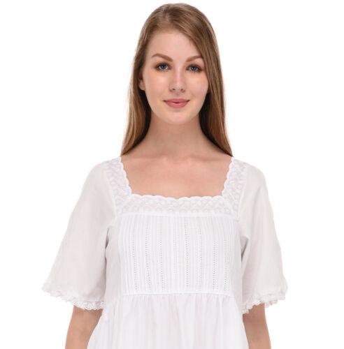 pizzo notte di in da Camicia cotone bianco qBTptPx