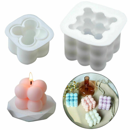 3D Silicone Candle Moulds DIY Soy Soap Aromatherapy Candles Wax Plaster Mold