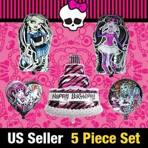 Admirable 8Pc Monster High Frankie Stein Ghouls Balloon Draculaura Foil Funny Birthday Cards Online Hendilapandamsfinfo