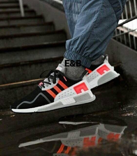 Men's Adidas EQT Cushion ADV Running shoes Black   Turbo   White Sz 13 AH2231