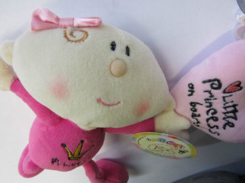Pink Baby Girl Child Little Princess on Board Car Window Cuddly Teddy Toy Sign