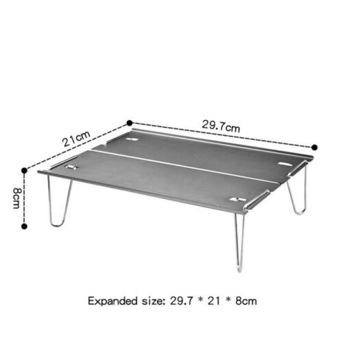 Portable Folding Table for Outdoor Camping Lightweight Aluminum Mini Picnic Desk