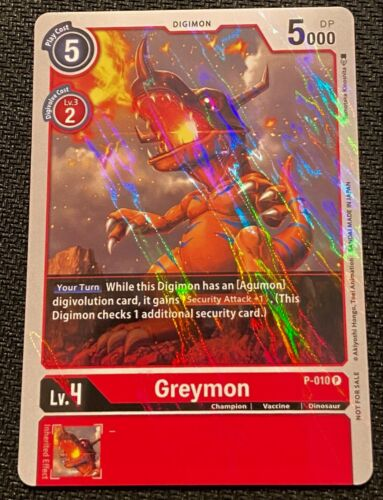 Greymon P-010 P Promo FOIL Digimon TCG NEAR MINT