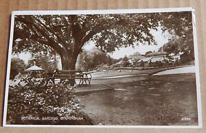 Postcard-Botanical-Gardens-Birmingham-Real-Photo-Posted-posted-1937
