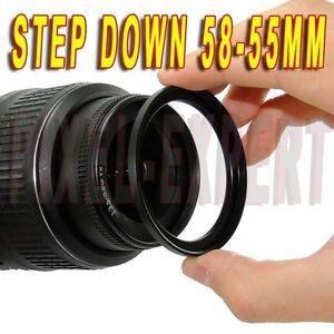 Anello Adattatore Step-down 58-55mm Ring Adapter Obiettivo Adapter Ring 58-55