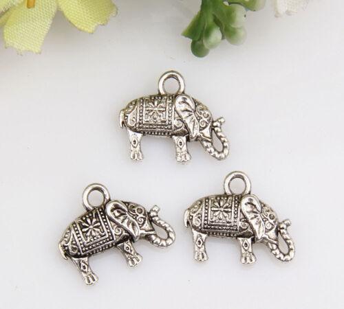 wholesale 20pcs//50pcs//150pcs zinc alloy elephant pendants 1A1566