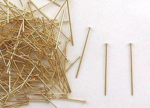 """1-1//2/"""" x 24 Gauge for Earring or Jewelry Design Gold Filled Domed Head Pins"""