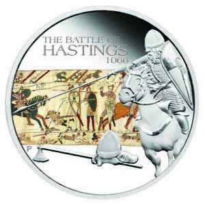 2009-Tuvalu-Famous-Battles-in-History-Hastings-1oz-Silver-Proof-Coin