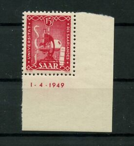 Germany-Saar-Saarland-vintage-yearset-1949-Mi-264-Br-Mint-MNH-2